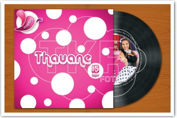 Convite Disco 15anos Thauane