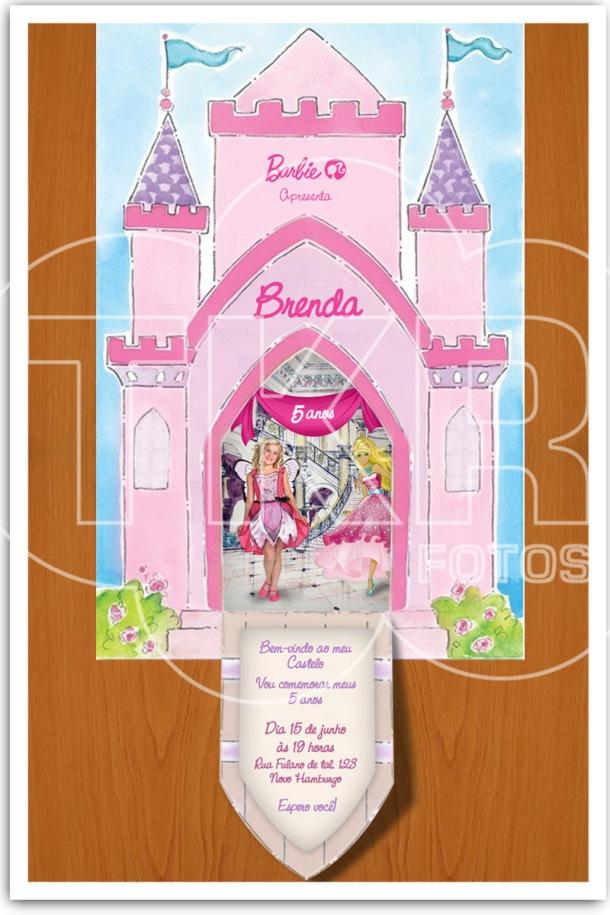 Convite Barbie Castelo