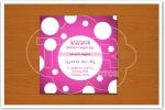 Convite Mini LP Anos 60 verso