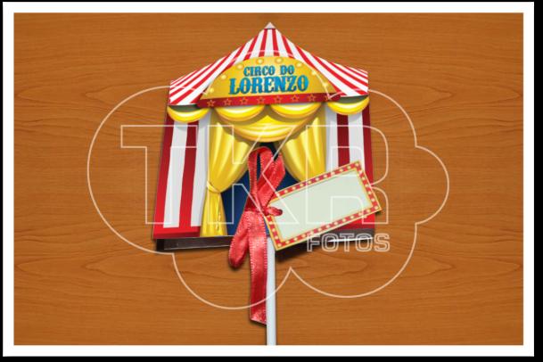 Circo Convite Pirulito frente